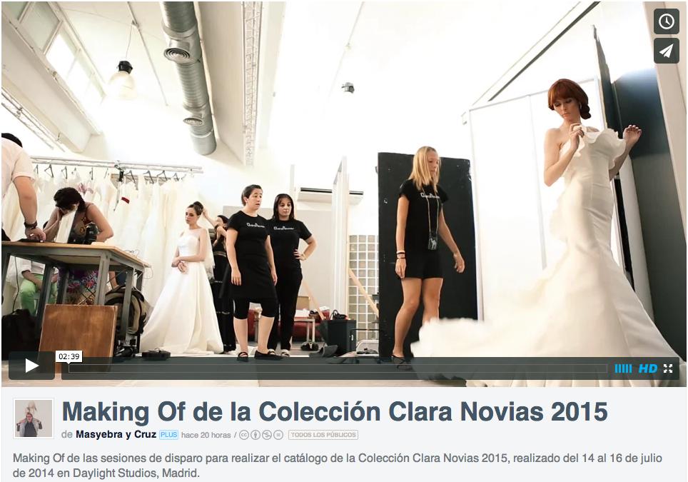 Catálogo de Clara Novias 2015, realizado por Masyebra, fotógrafo de bodas.